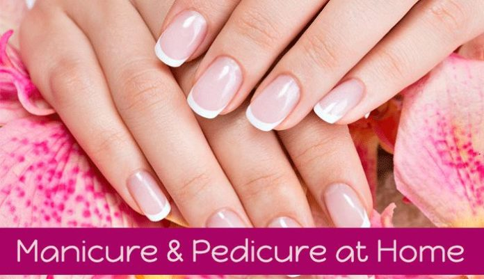 Manicure and pedicure at home tips In bengali