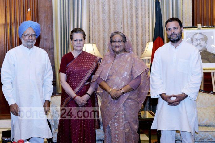 Bangaldesh PM Shekh Haseena Meet With Sonia in bengali