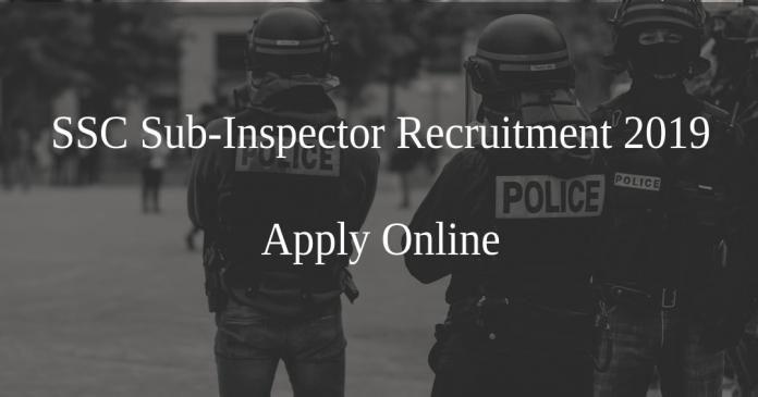 SSC Sub inspector vacancy advertisement in bengali