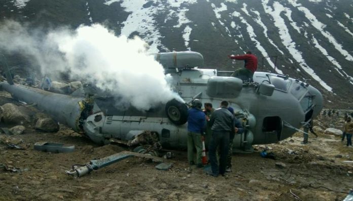 indian air force officers action mi 17 chopper crash budgam