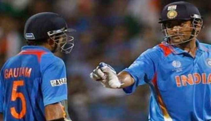 gambhir said due to dhoni in world cup could not score century