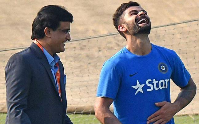 kohli took to give nod for dn tests just 3 seconds says bcci ganguly