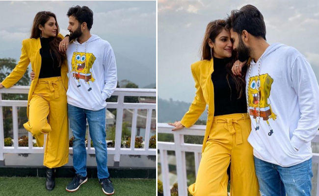 nusrat jahan shares beautiful pics with husband nikhil jain in bengali